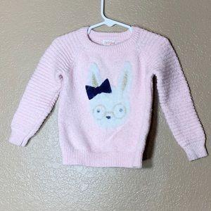 Cat & Jack toddler girl pink rabbit sweater